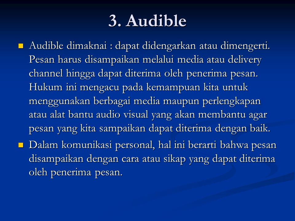 3. Audible