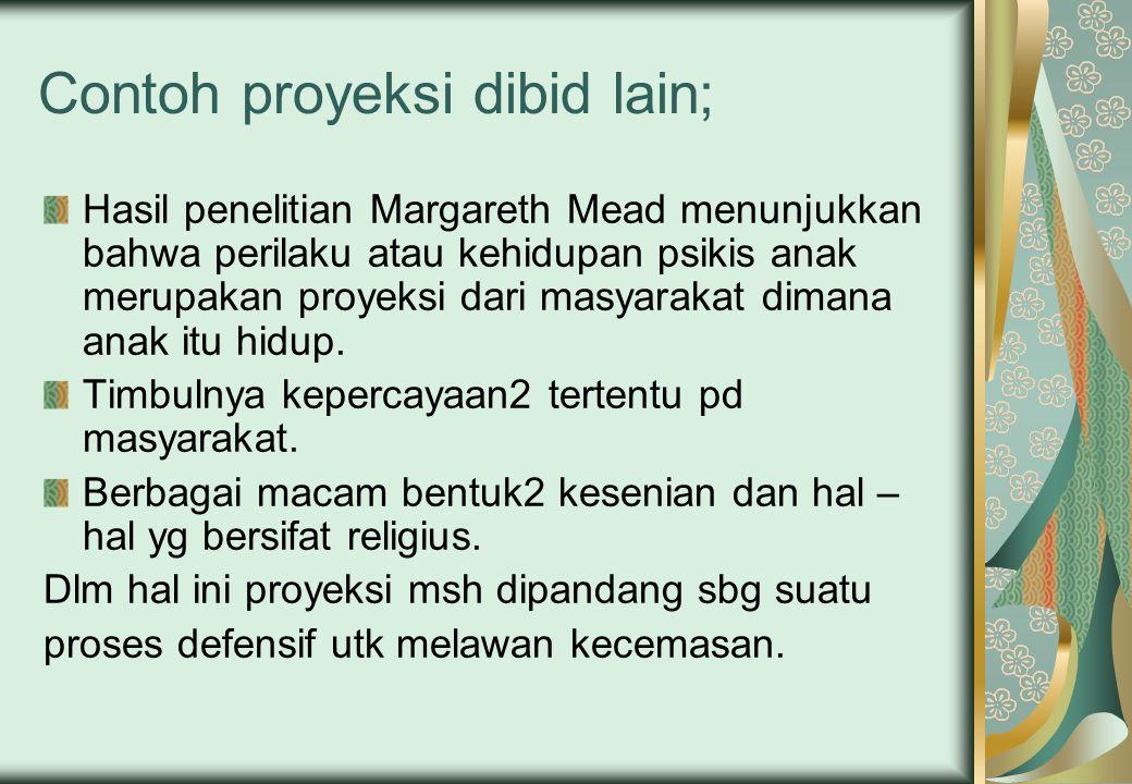 Contoh proyeksi dibid lain;