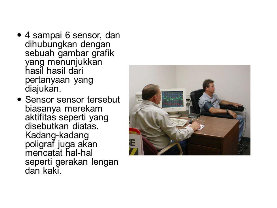 4 sampai 6 sensor, dan dihubungkan dengan sebuah gambar grafik yang menunjukkan hasil hasil dari pertanyaan yang diajukan.