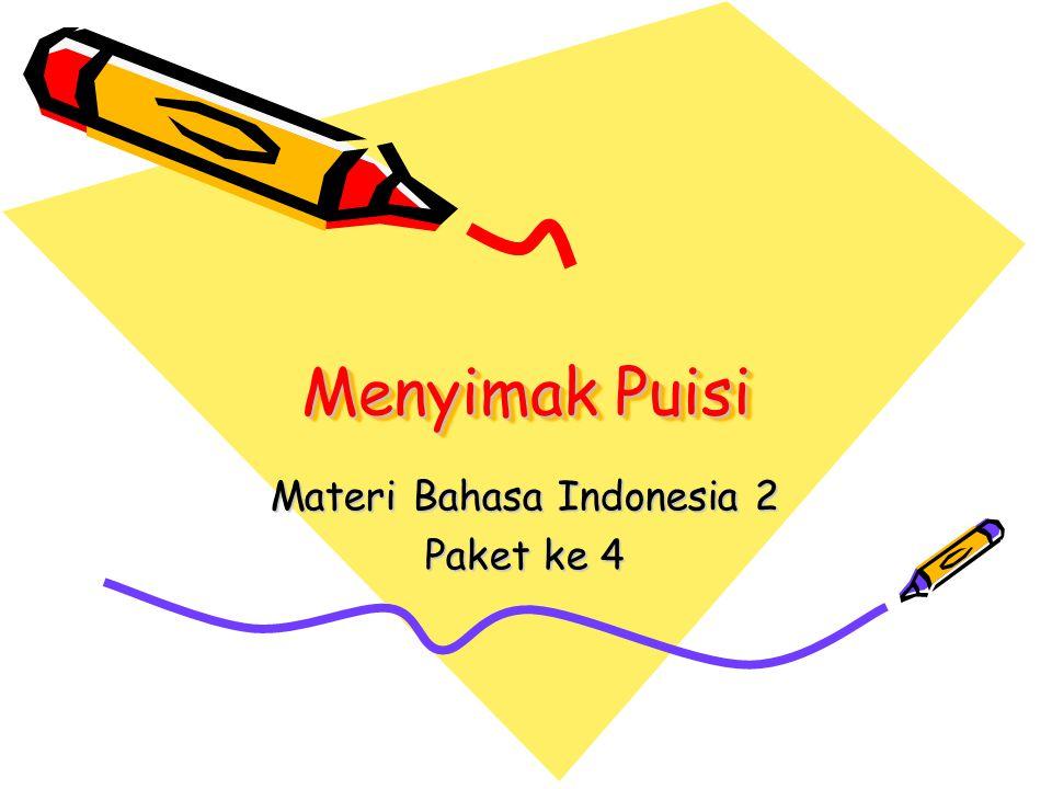 Materi Bahasa Indonesia 2 Paket ke 4
