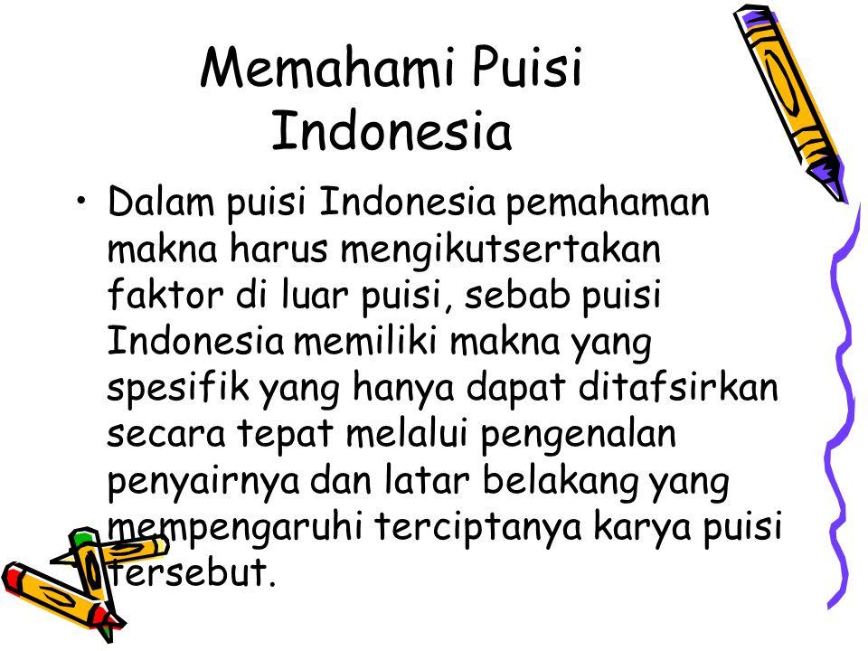 Memahami Puisi Indonesia