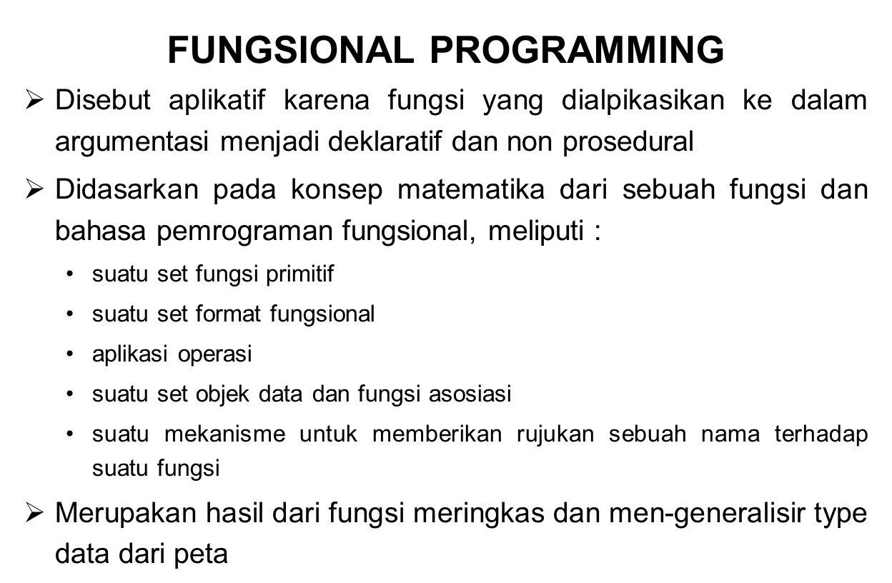 FUNGSIONAL PROGRAMMING