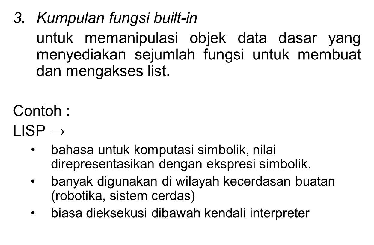 Kumpulan fungsi built-in