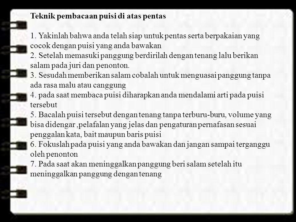 Teknik pembacaan puisi di atas pentas 1