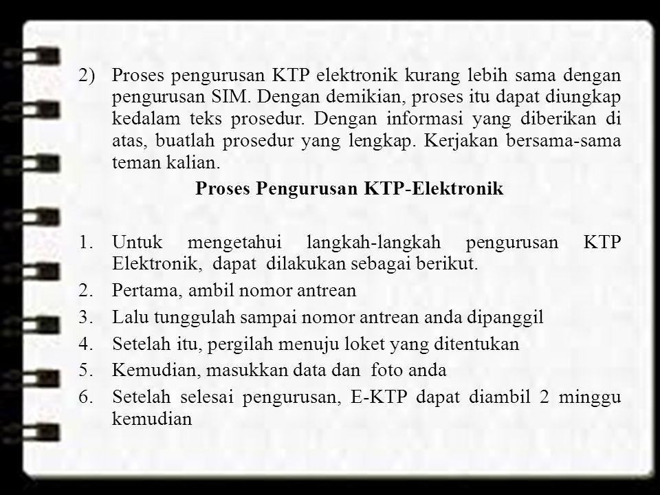 Proses Pengurusan KTP-Elektronik
