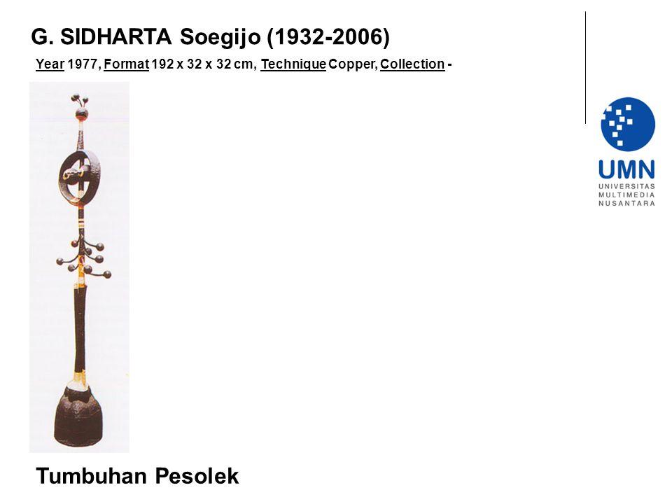 G. SIDHARTA Soegijo (1932-2006) Tumbuhan Pesolek