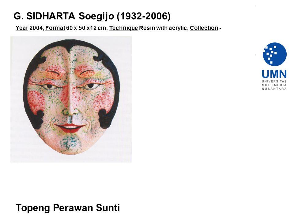G. SIDHARTA Soegijo (1932-2006) Topeng Perawan Sunti