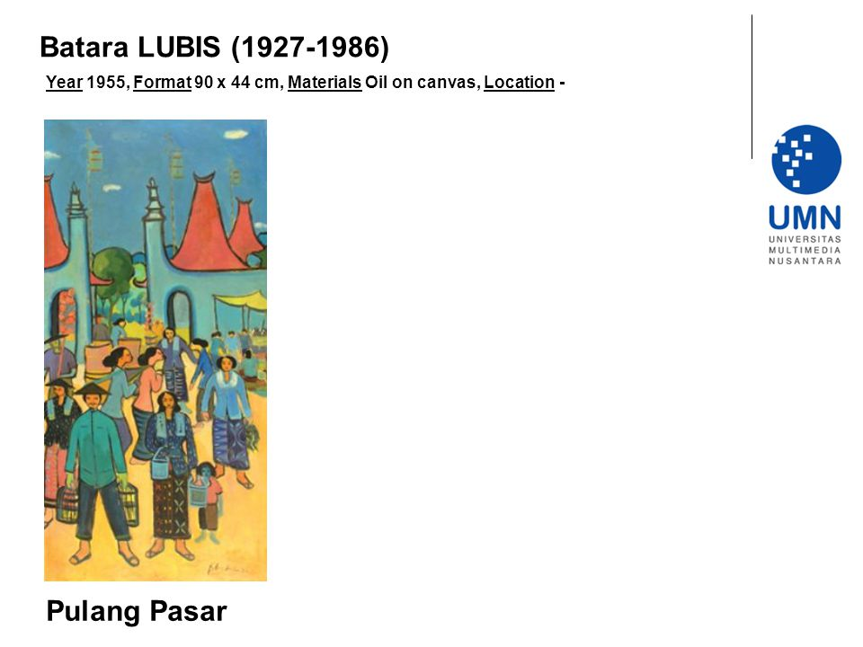 Batara LUBIS (1927-1986) Pulang Pasar