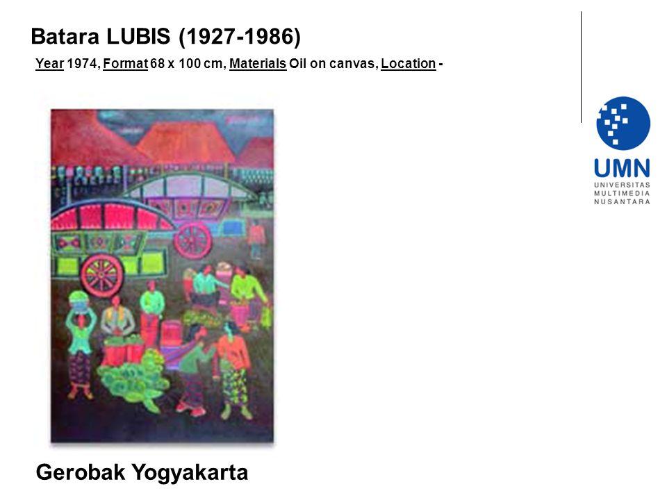 Batara LUBIS (1927-1986) Gerobak Yogyakarta