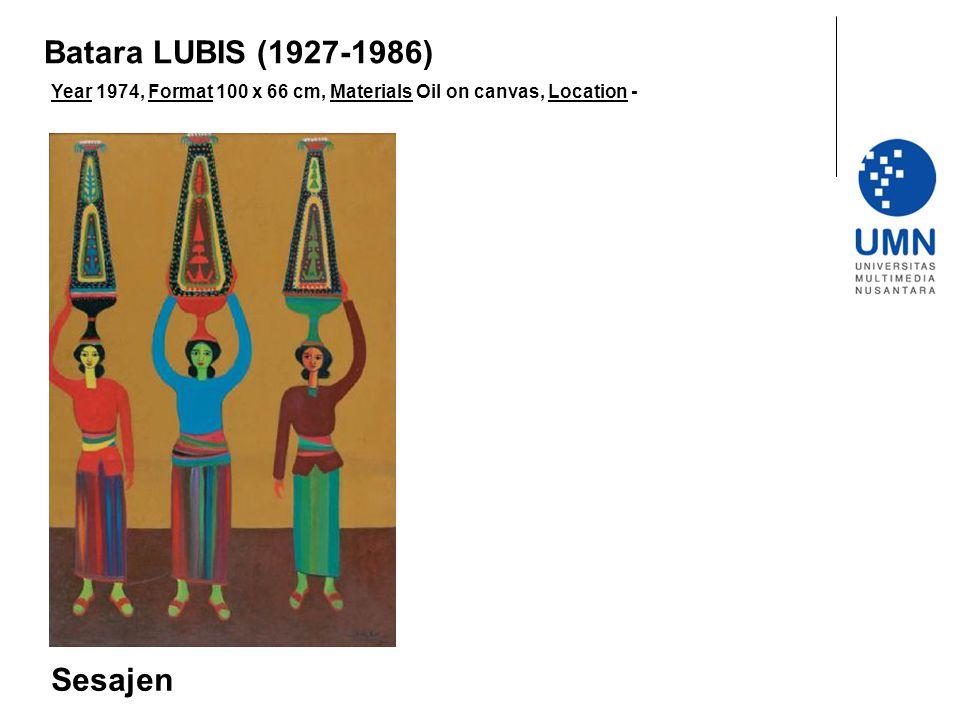 Batara LUBIS (1927-1986) Sesajen