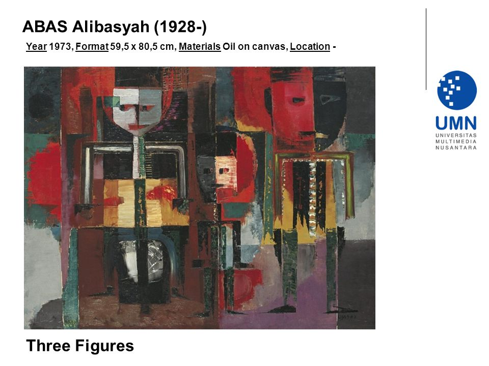 ABAS Alibasyah (1928-) Three Figures