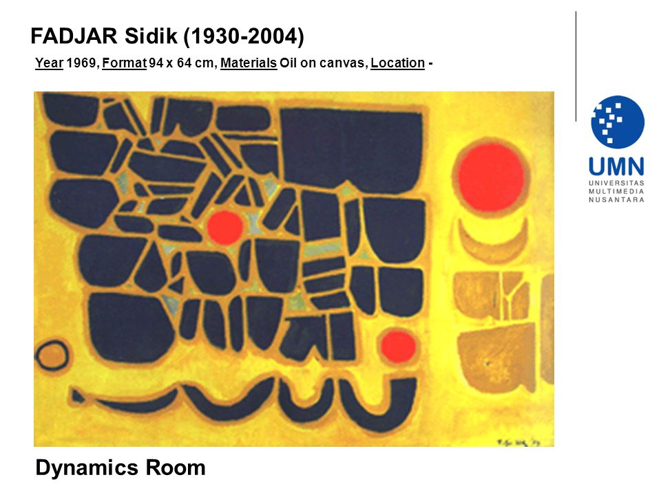 FADJAR Sidik (1930-2004) Dynamics Room