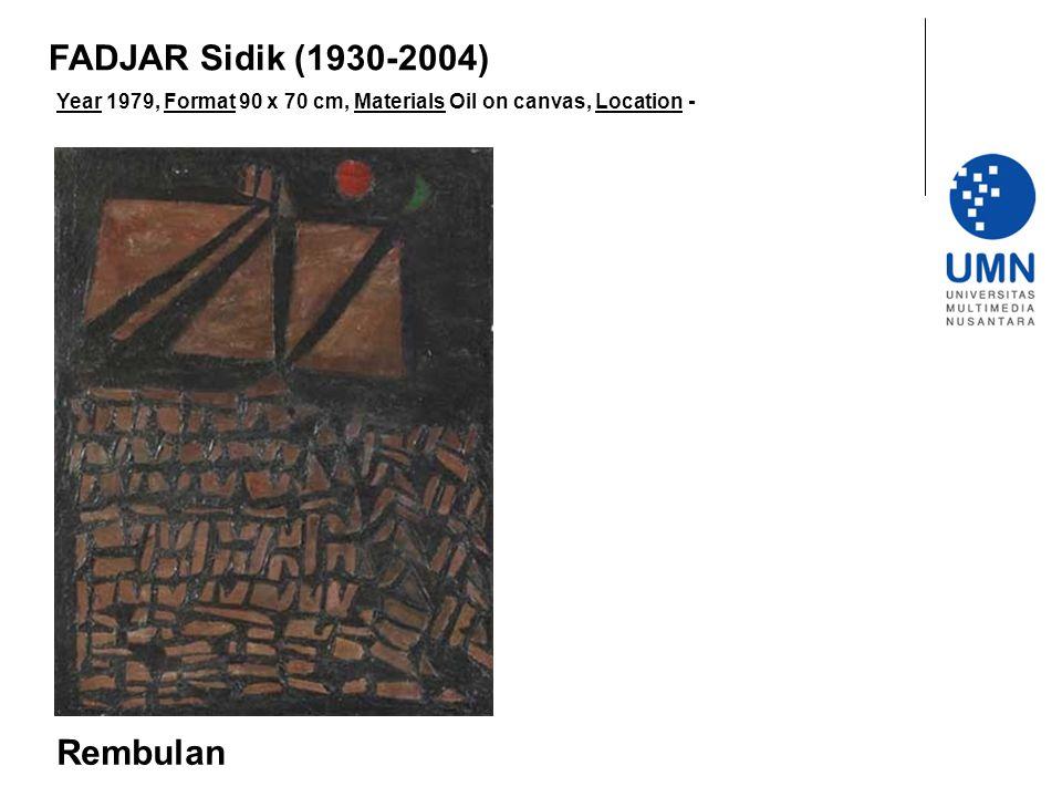 FADJAR Sidik (1930-2004) Rembulan