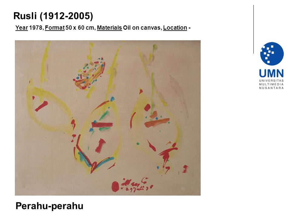 Rusli (1912-2005) Perahu-perahu