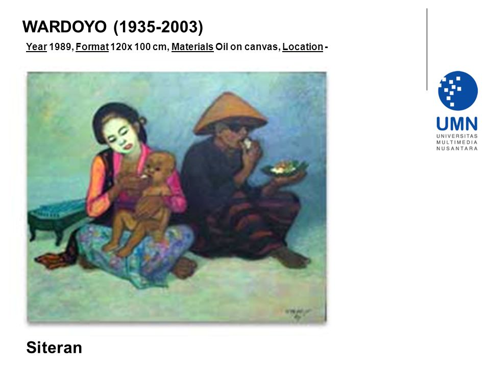 WARDOYO (1935-2003) Year 1989, Format 120x 100 cm, Materials Oil on canvas, Location - Siteran