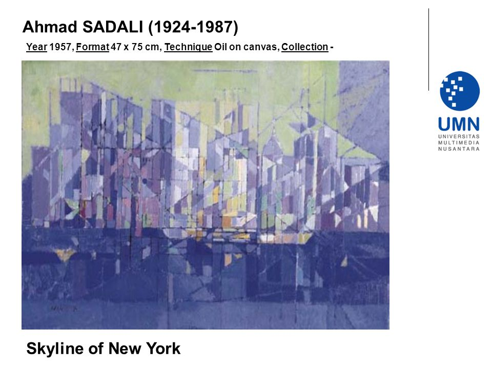 Ahmad SADALI (1924-1987) Skyline of New York