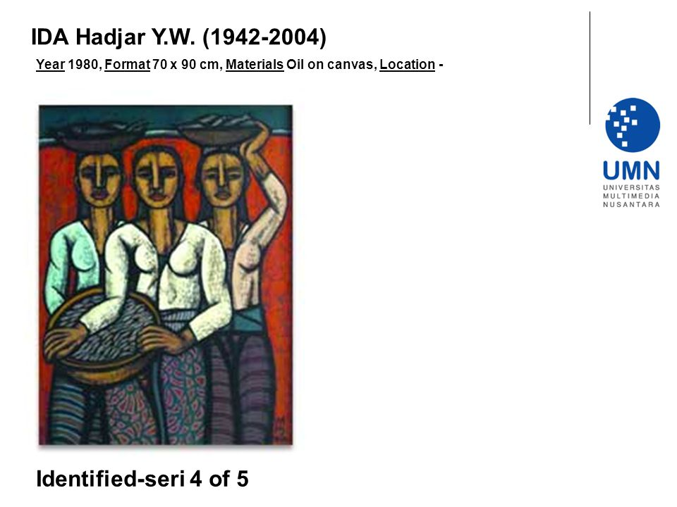 IDA Hadjar Y.W. (1942-2004) Identified-seri 4 of 5