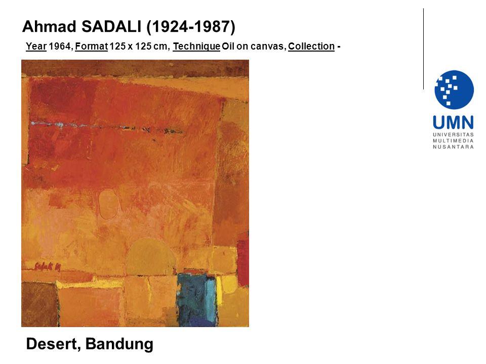 Ahmad SADALI (1924-1987) Desert, Bandung