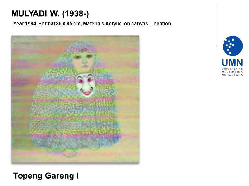 MULYADI W. (1938-) Topeng Gareng I
