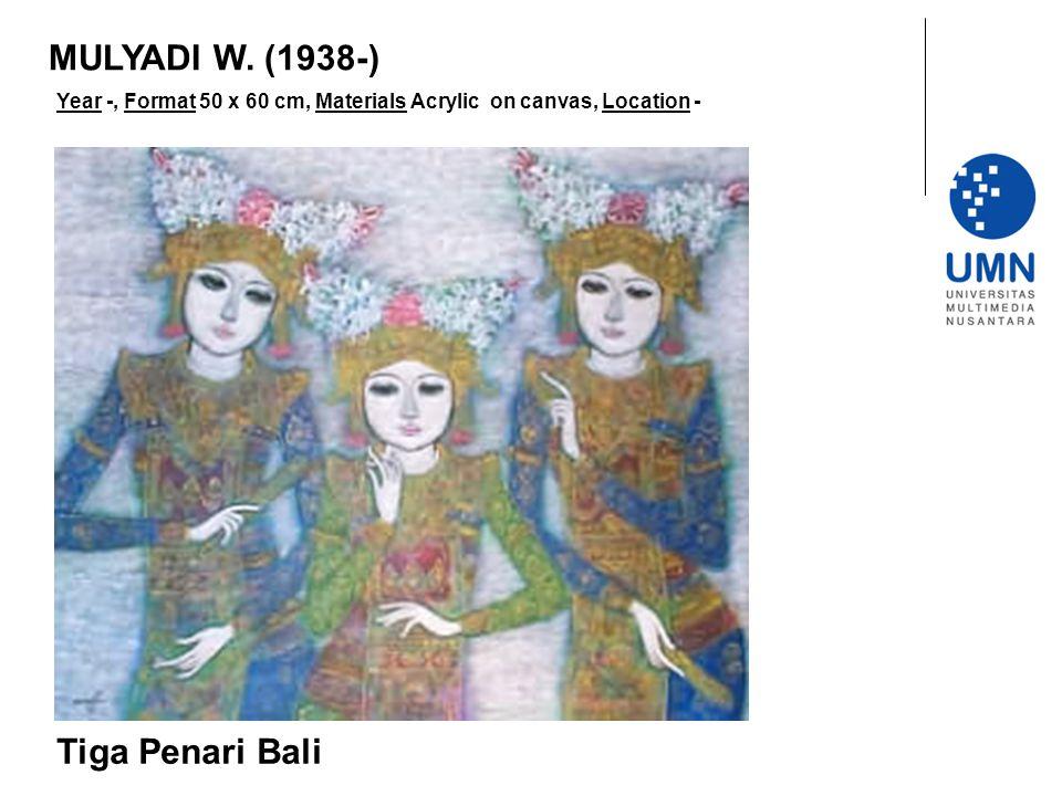 MULYADI W. (1938-) Tiga Penari Bali