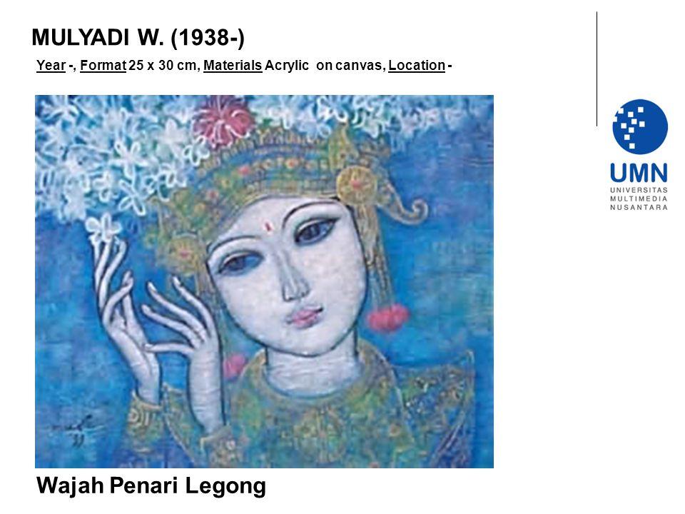 MULYADI W. (1938-) Wajah Penari Legong