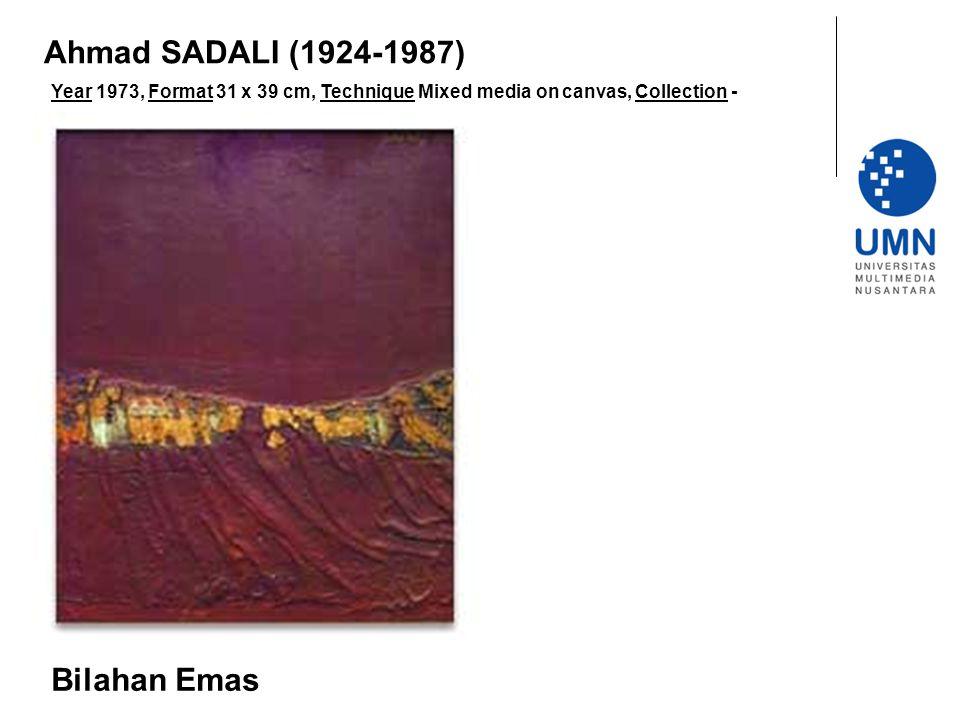 Ahmad SADALI (1924-1987) Bilahan Emas