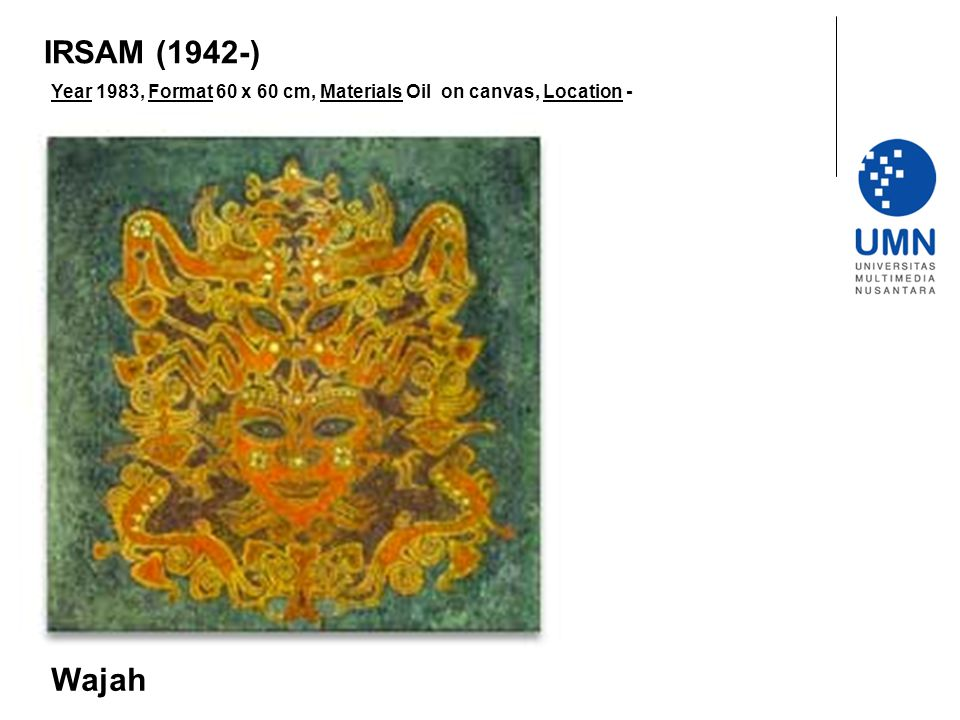 IRSAM (1942-) Year 1983, Format 60 x 60 cm, Materials Oil on canvas, Location - Wajah