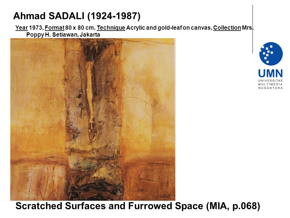Scratched Surfaces and Furrowed Space (MIA, p.068)