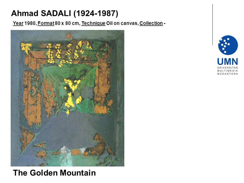 Ahmad SADALI (1924-1987) The Golden Mountain