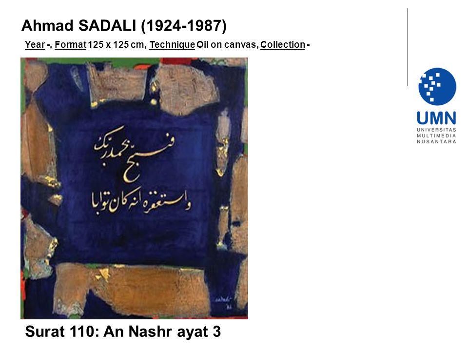 Ahmad SADALI (1924-1987) Surat 110: An Nashr ayat 3
