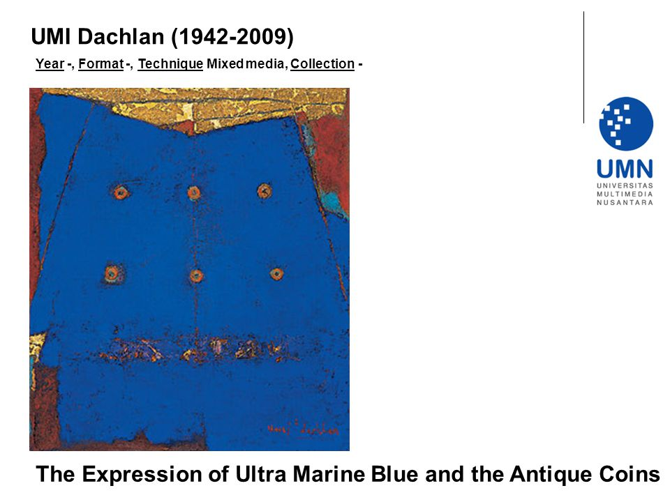 The Expression of Ultra Marine Blue and the Antique Coins