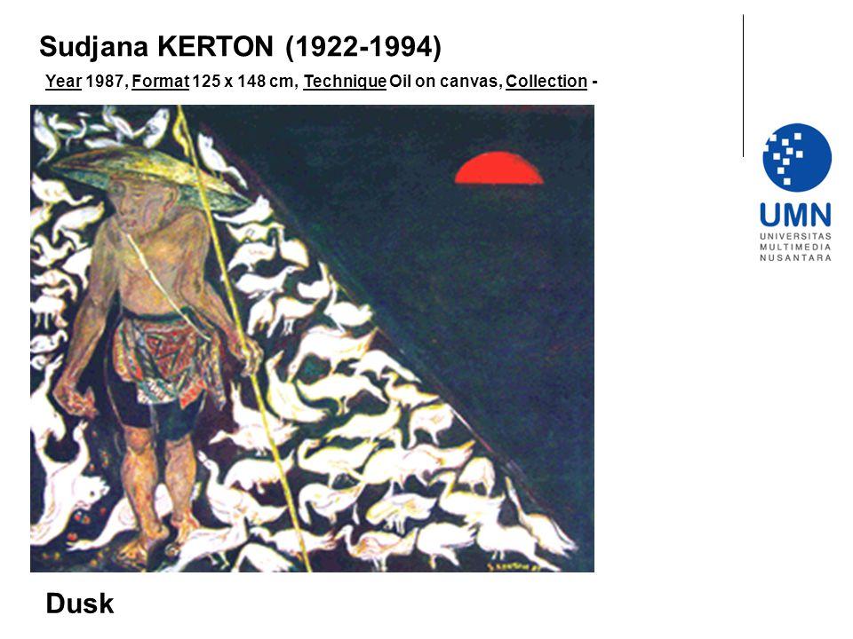 Sudjana KERTON (1922-1994) Dusk