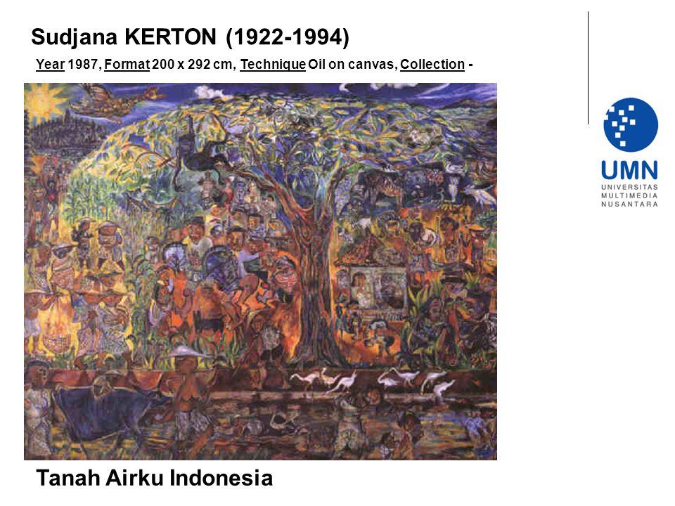 Sudjana KERTON (1922-1994) Tanah Airku Indonesia