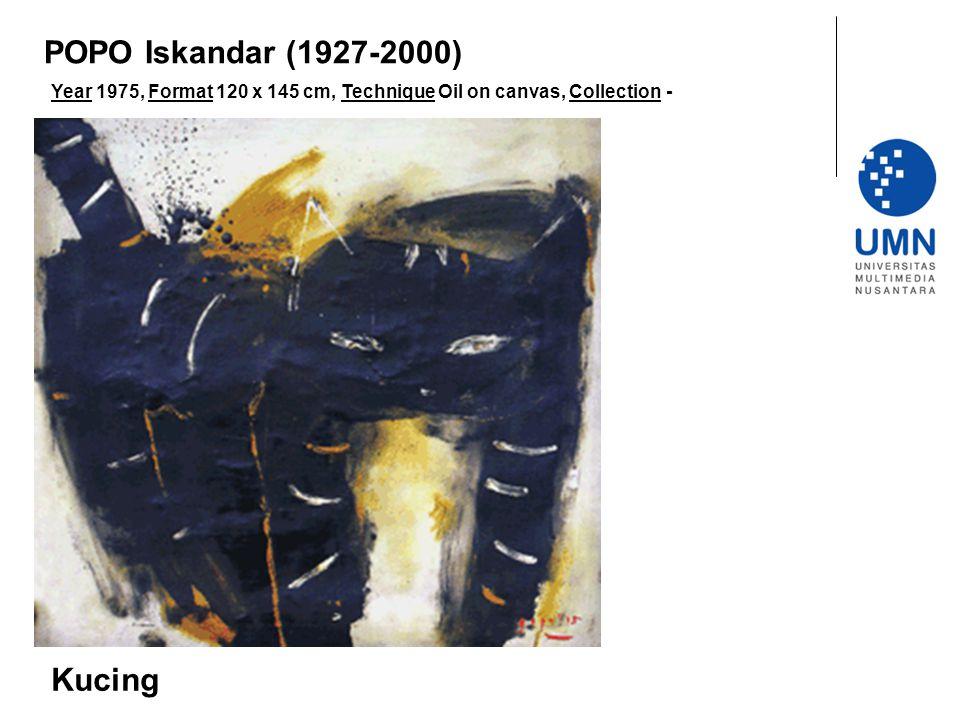 POPO Iskandar (1927-2000) Kucing