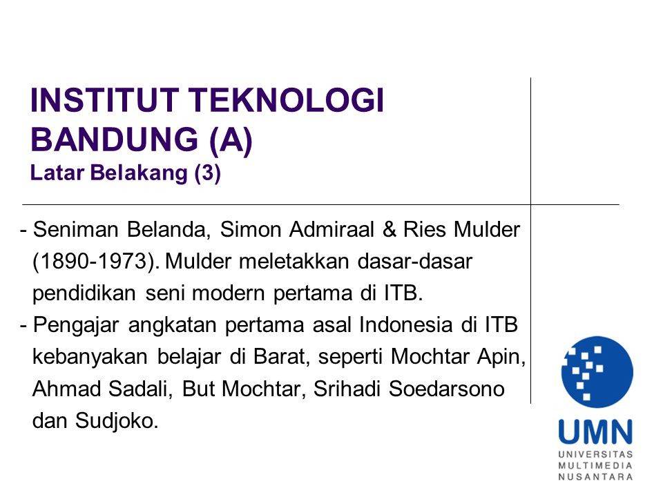 INSTITUT TEKNOLOGI BANDUNG (A) Latar Belakang (3)
