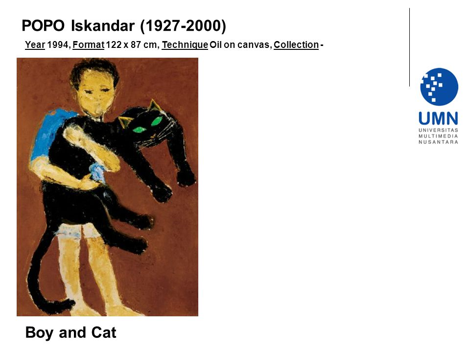 POPO Iskandar (1927-2000) Boy and Cat