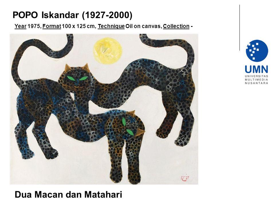 POPO Iskandar (1927-2000) Dua Macan dan Matahari