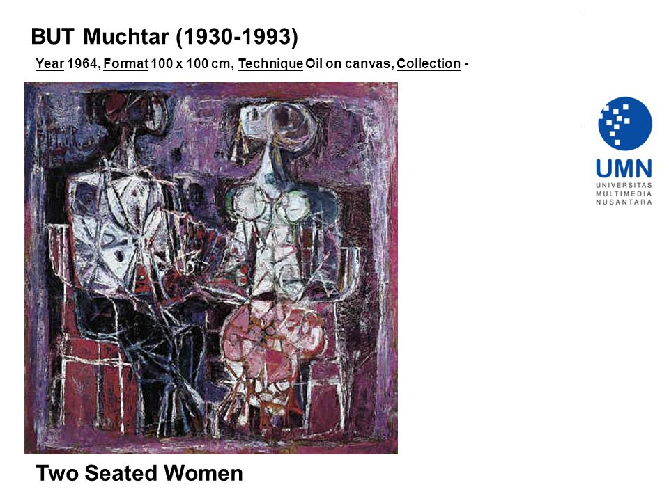 BUT Muchtar (1930-1993) Two Seated Women