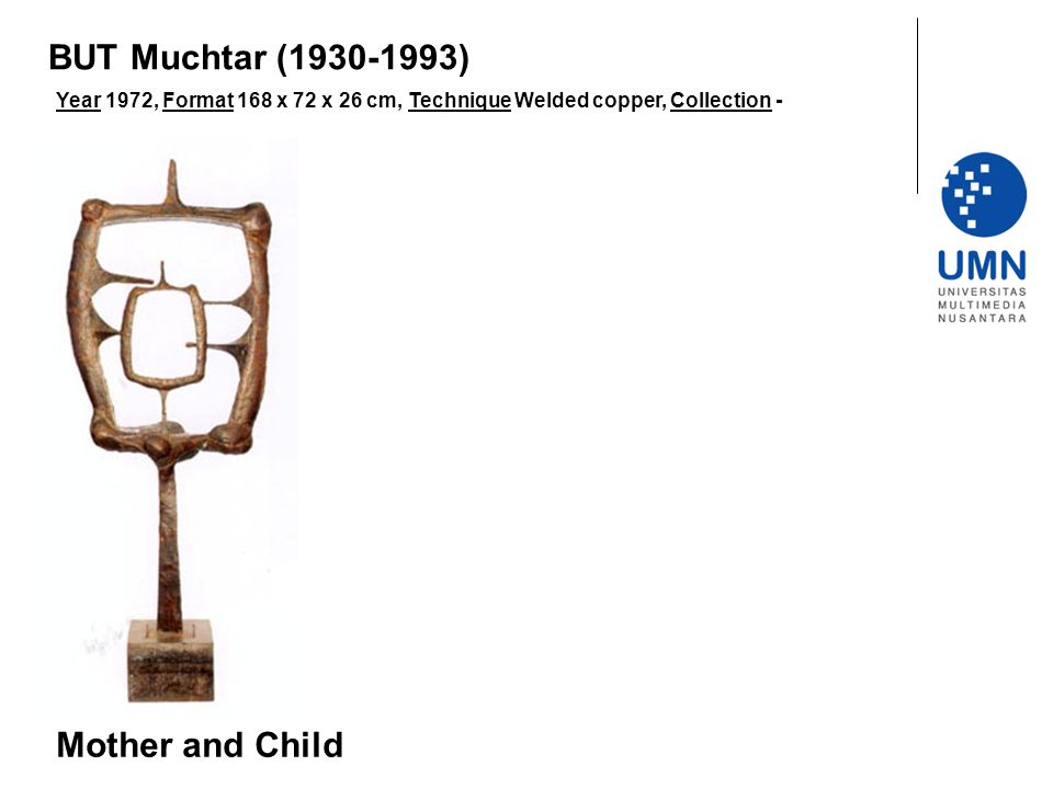 BUT Muchtar (1930-1993) Mother and Child