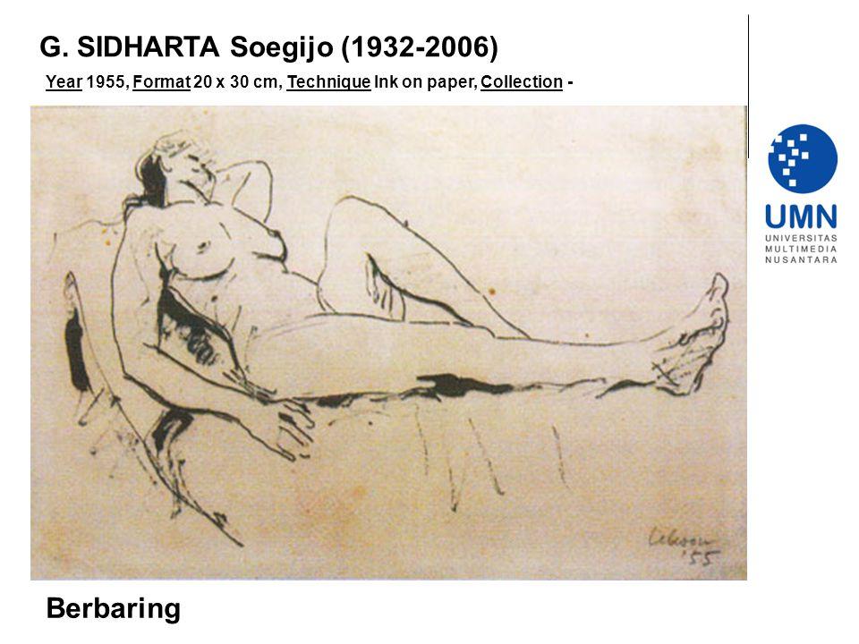 G. SIDHARTA Soegijo (1932-2006) Berbaring
