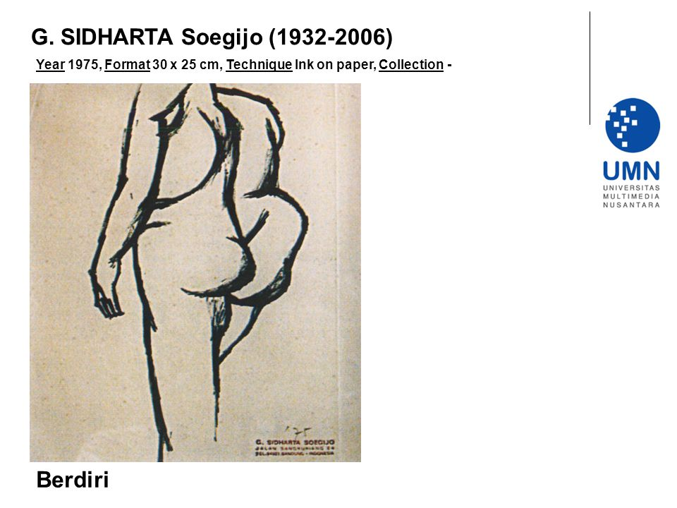 G. SIDHARTA Soegijo (1932-2006) Berdiri