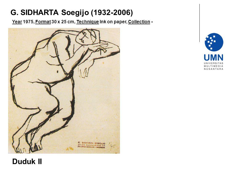 G. SIDHARTA Soegijo (1932-2006) Duduk II