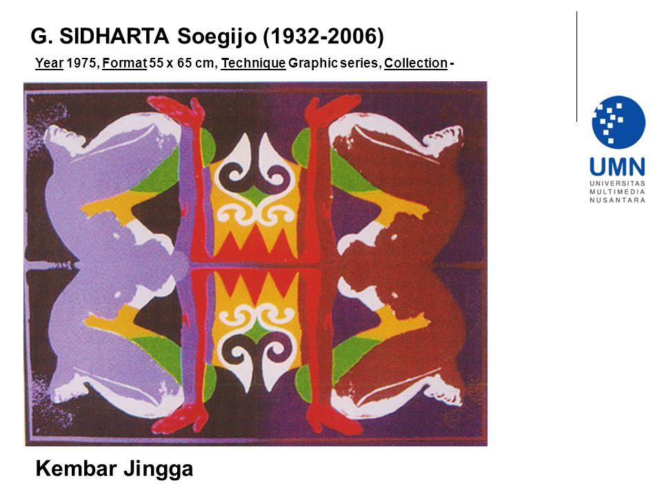 G. SIDHARTA Soegijo (1932-2006) Kembar Jingga