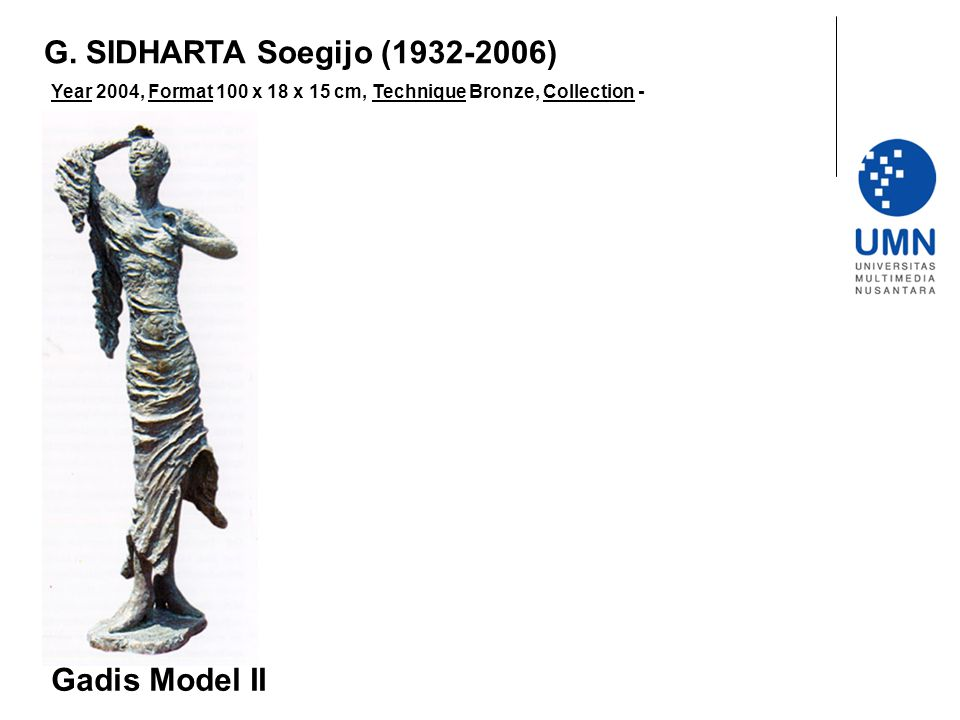 G. SIDHARTA Soegijo (1932-2006) Gadis Model II
