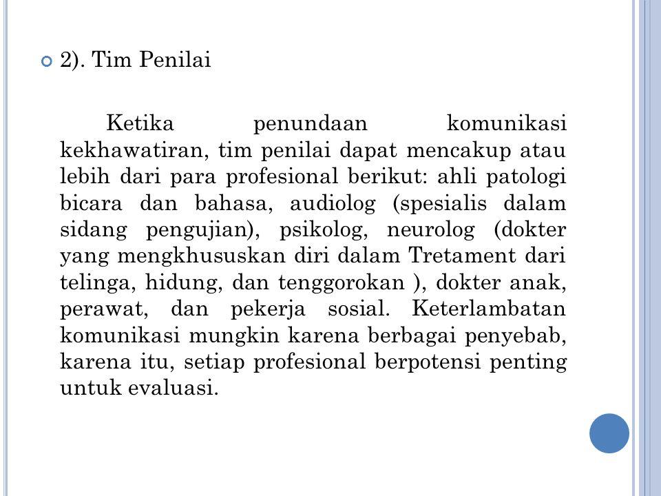 2). Tim Penilai