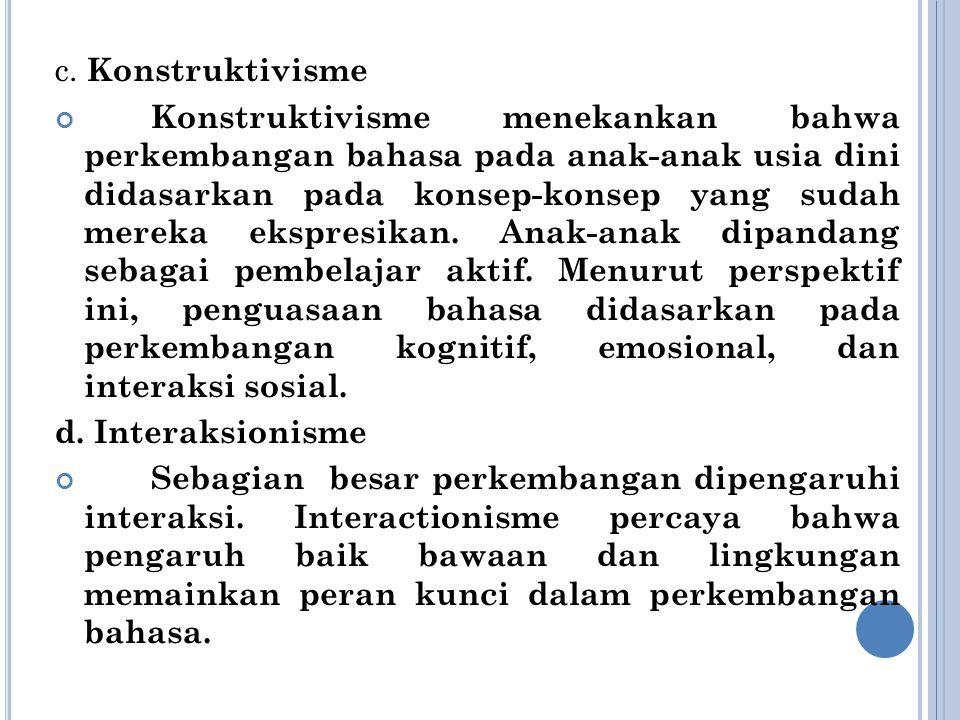 c. Konstruktivisme