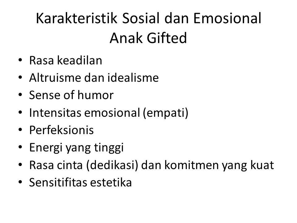 Karakteristik Sosial dan Emosional Anak Gifted