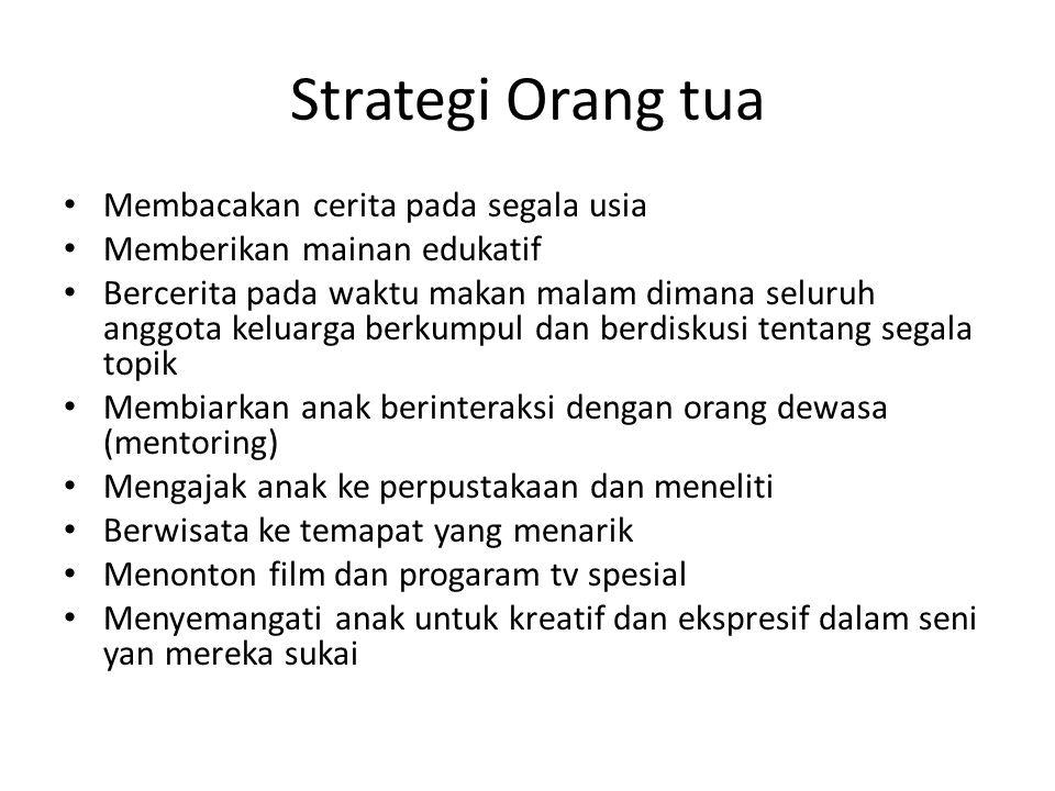 Strategi Orang tua Membacakan cerita pada segala usia
