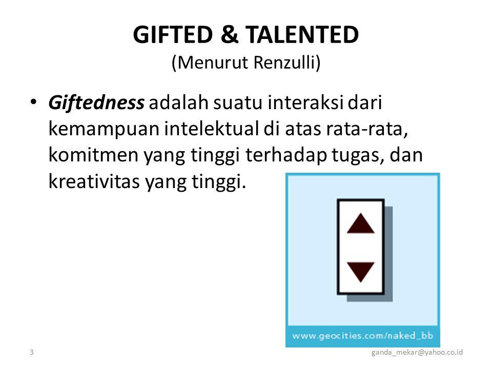 GIFTED & TALENTED (Menurut Renzulli)