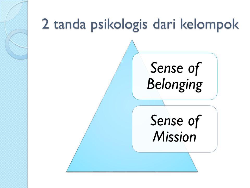 2 tanda psikologis dari kelompok